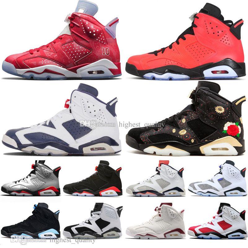 2019 Shoes Bred VI 6 6s Mens Basketball Infrared 23 3M reflexiva Tinker Gatorade verdes Oreo Homens Desportos Sapatilhas 4s 4 Formadores Tamanho 7-13