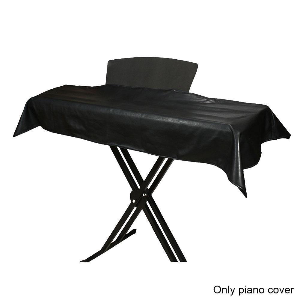 88 키 보호 책 스탠드 열기 피아노 커버 홈 방수 방진 체크 패턴 PU 가죽 실용 비 슬립 지퍼