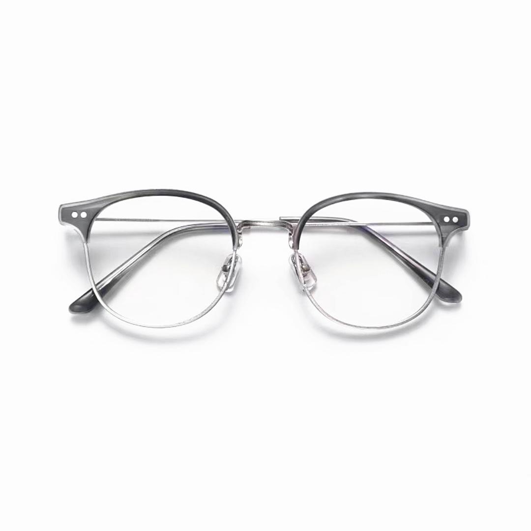 Del progettista di marca ALIO Donne Uomini Retro Moda rotonda degli occhiali di vetro Eyewear custodia originale Classic prescrizione ottica Occhiali Oculos