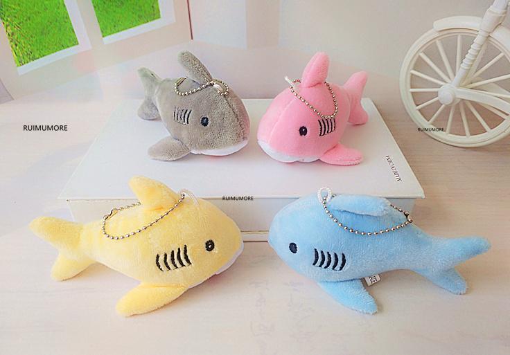 12CM, Porte-clés cadeau requin en peluche TOY DOLL, Petit Mini peluche Jouets pour enfants
