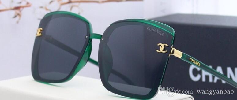 2020 الرجال والنساء جديد يقود إطار كبير ارتفاع واضح الاستقطاب النظارات الشمسية HD الراتنج الاستقطاب lensesAA