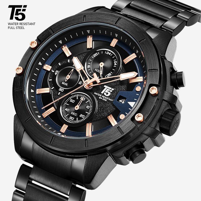 고무 스트랩 고급 기계 자동 이동 패션 남성 시계 골드 패션 발광 마스터는 남자 시계 손목 시계 2020를보고 GMT