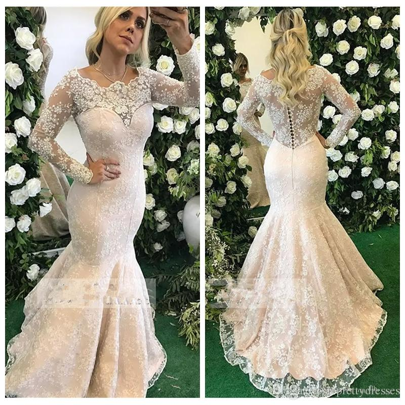 Modest Long Sleeves Lace Slim Mermaid Evening Dresses 2019 Custom Formal Ladies Maxi Vestidos De Festa Prom Party Gowns Middle East