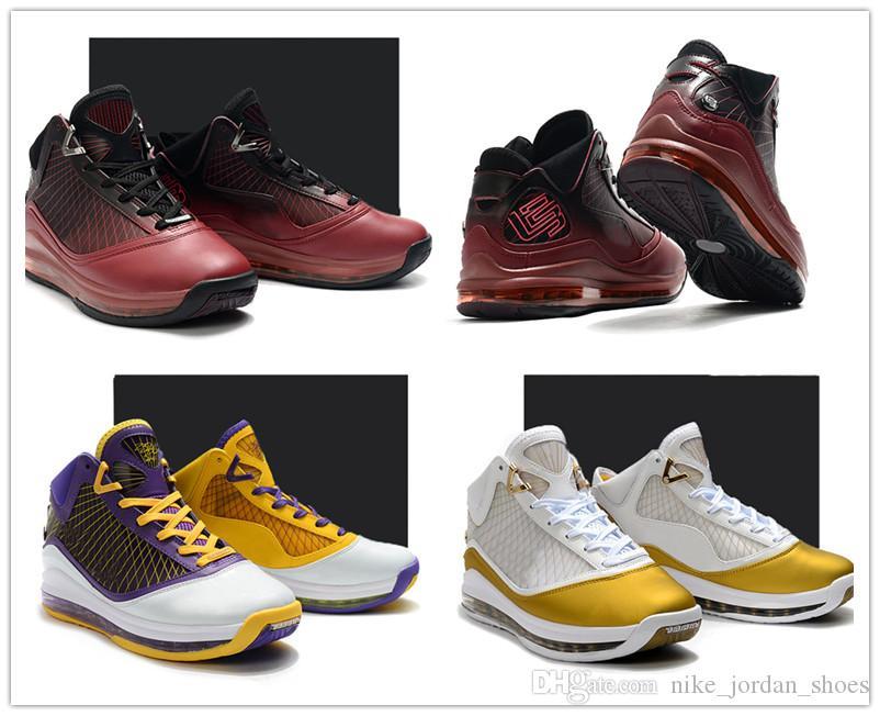 L7 제임스 중국 달 크리스마스 레이커스 남자 농구 트레이너기를 팀 레드 골드 화이트 퍼플 옐로우 남성 운동 스포츠 신발 신발