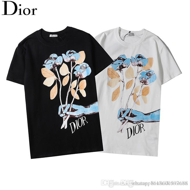 Men Casual Print Color Matching Shirts Loose Short Sleeve Hip Hop T-shirt Tops