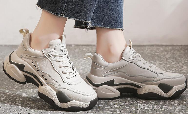 Top Papà donne inverno 2019 nuova versione coreana scarpe Zhixun spessa semplice suola versatile scarpe casual sport ragazza signore scarpe da corsa atletica