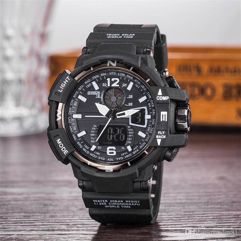 Uhr-Sport-Digital-Quarz-Uhren wasserdicht relojes hombre Wecker Elektronik beobachten