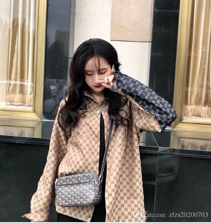 Web ünlü tanrı, erkek ve kadınlar için VINTAAGE modaya uygun bir sokak trendi bir gümrük parodi LOGO kot jakarlı gömlek verdi