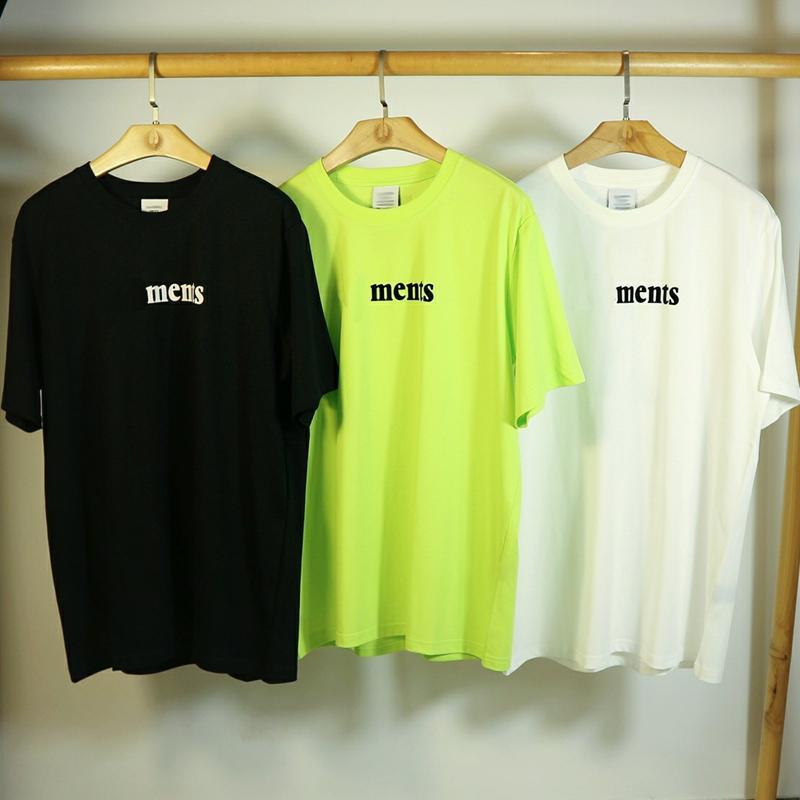 Casais 20FW VT letra impressa Tee Homens Mulheres Simples Cor T-shirt Sólidos Casual Rua Skate Verão manga curta HFYMTX695