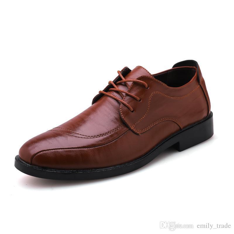 Новый роскошный классический человек острым носом туфли мужские лакированные черные свадебные туфли Оксфорд формальные туфли