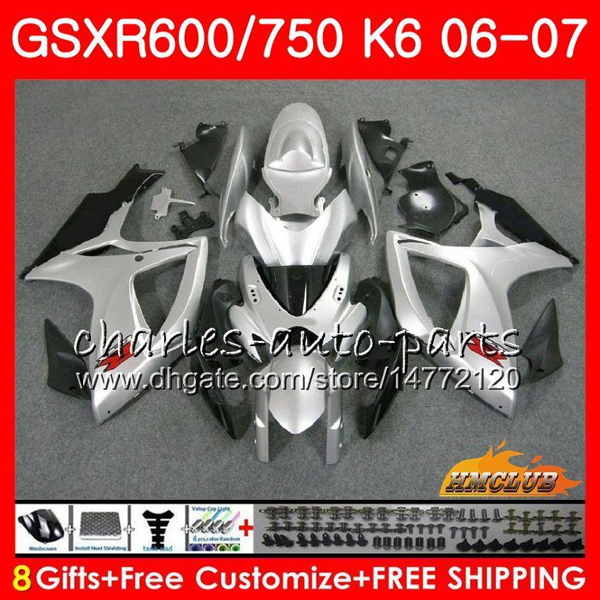 CUERPO PARA SUZUKI GSX R600 GSX R750 GSXR600 2006 2007 8HC.67 GSX-R600 GSXR-750 K6 GSXR 600 750 06-07 GSXR750 06 07 Kit de carenamiento de plagas glosas