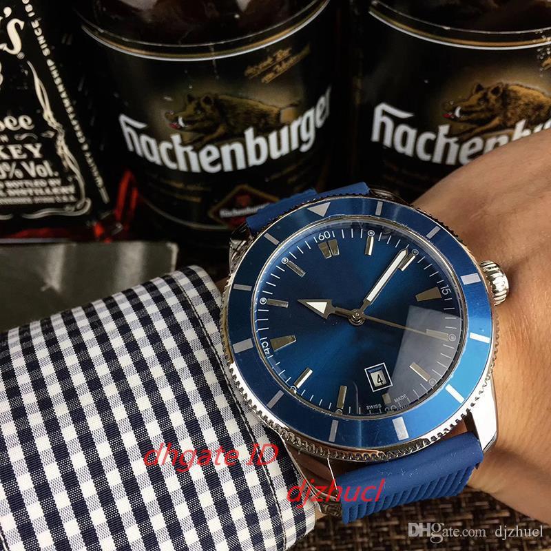 2020 топ автоматические механические мужские часы синий циферблат силиконовый ремешок 5 АТМ водонепроницаемый световой указатель Orologio ди Lusso