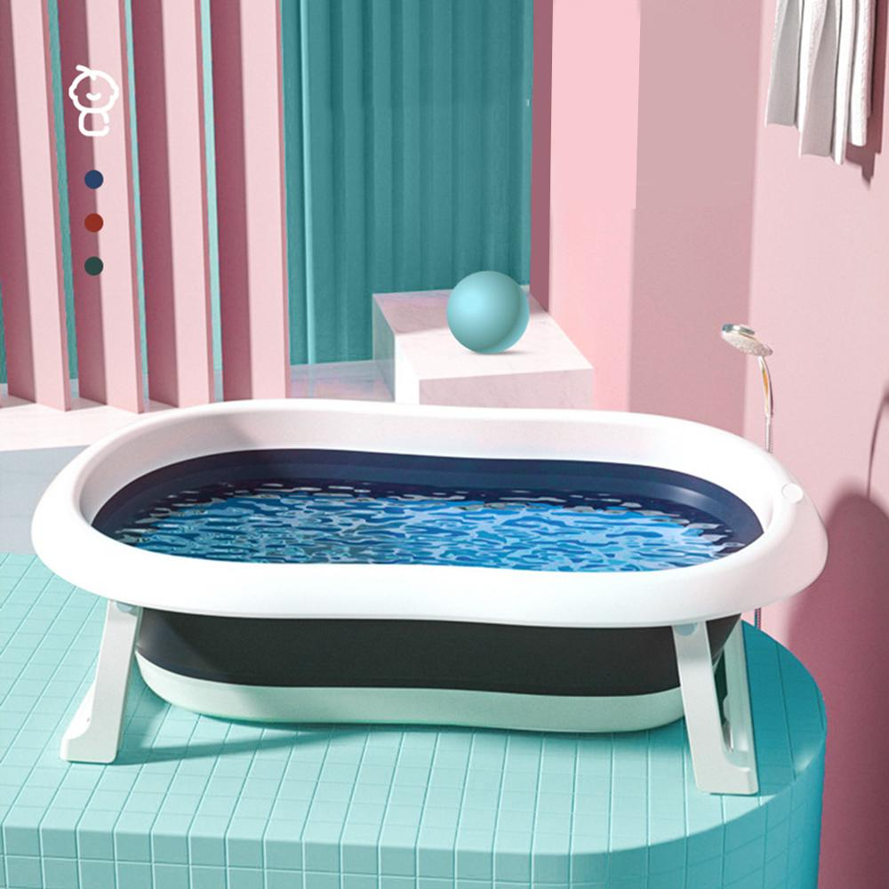 Lavar Roupa recém-nascido Folding Banheira Baby Swim Tubs Corpo portátil Crianças antiderrapantes Supplies seguro Banheira de limpeza
