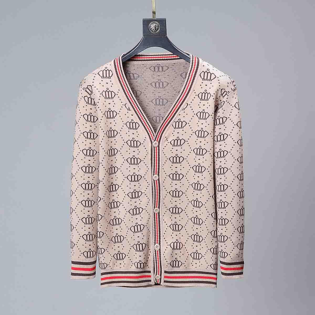 2020ss projeto luxuoso da camisola Hoodie Men de homens e mulheres amantes Casual design de alta qualidade camisola preta Khaki da camisola Men Cardigan Tamanho