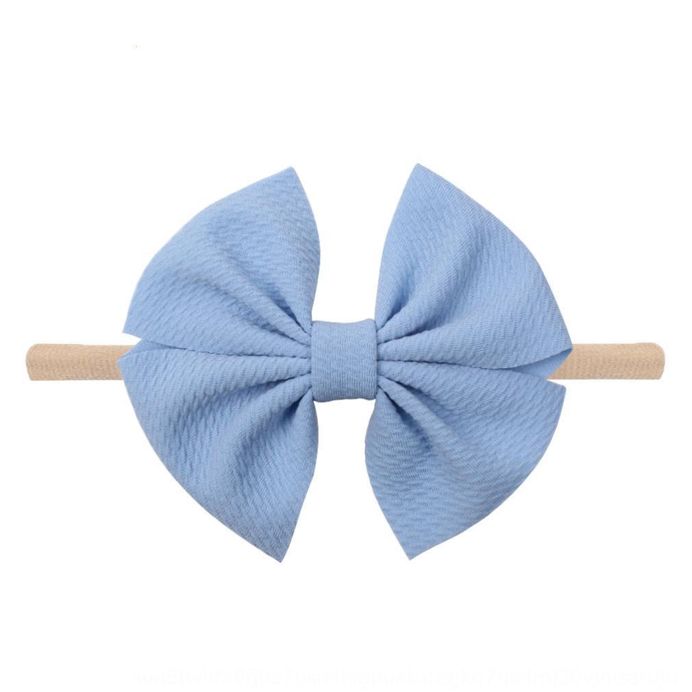 2020 neues Baby nahtlose Bogen Nylon Kopf dekorative Haarband Band Schmetterlingshaarschmuck Kinder