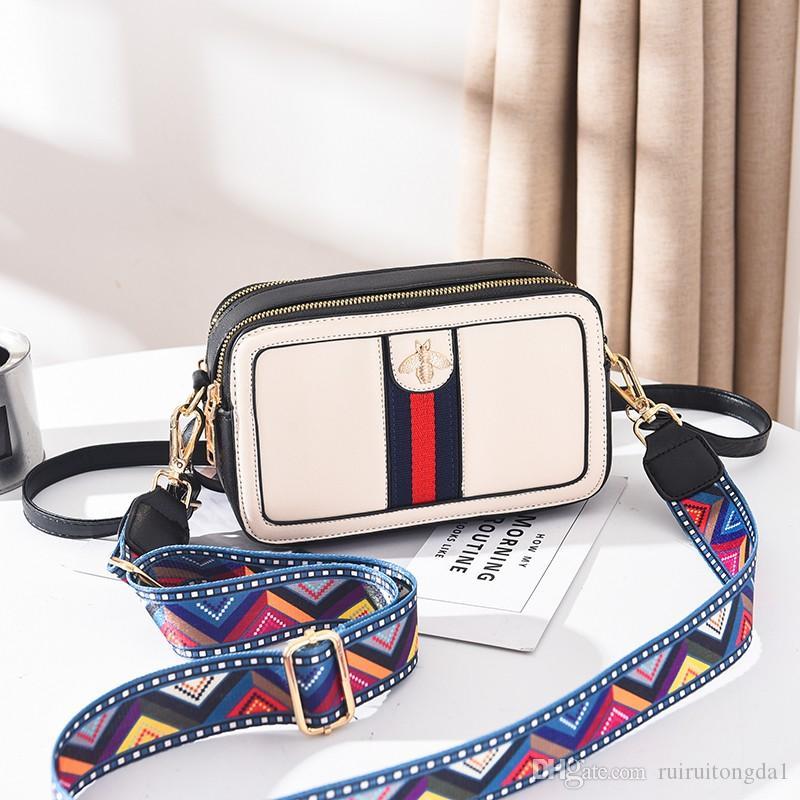 2019 дамы новый небольшой квадратный пакет молния сумка Сумка плеча мода кожа дамы сумка bateli\4