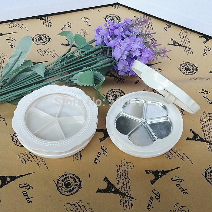 Blanco vacío del lápiz labial Lip Balm caja de la flor espejo de aumento colorete de almacenamiento caso Corrector de maquillaje sombra de ojos en polvo Accesorios Caso