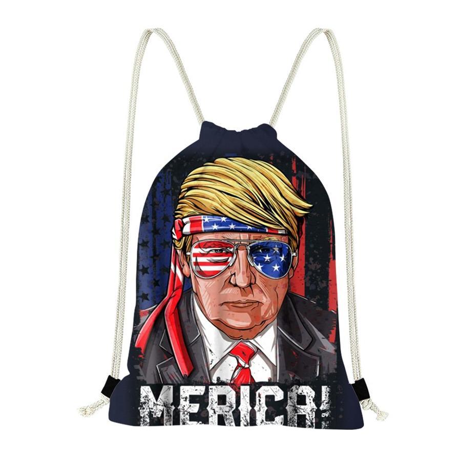 2020 Trump Rucksack Fashion Tragetaschen PU-Leder Trump Fashion Handtaschen-Einkaufen Hand Bag7E15 # # 479