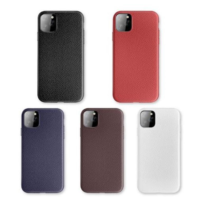 Pour iPhone 11 Pro Max 11 XS XR 6 7 8 plus cuir Téléphone Housse souple TPU antichocs Téléphone Shell