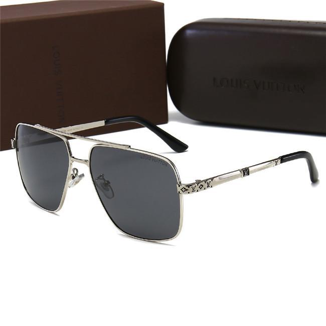 Лучшее качество поляризованных мужские Древние солнечных очков конструктора класс люкс Женщины Марка Металл Polaroid Goggle Очки солнцезащитных Открытые спортивные очки с коробкой