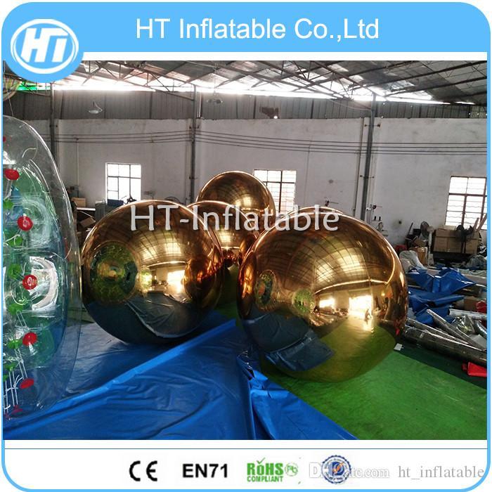 Freies Verschiffen 1m bunter aufblasbarer Ballon Spiegel Kugel für Dekoration Aufblasbare Festival Ballon Aufblasbares Schwimmspiegelkugel