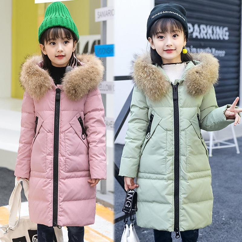 2018 Women Winter Hooded Big Real Fur Collar Down Coat Down Jacket Parka UK 6-14