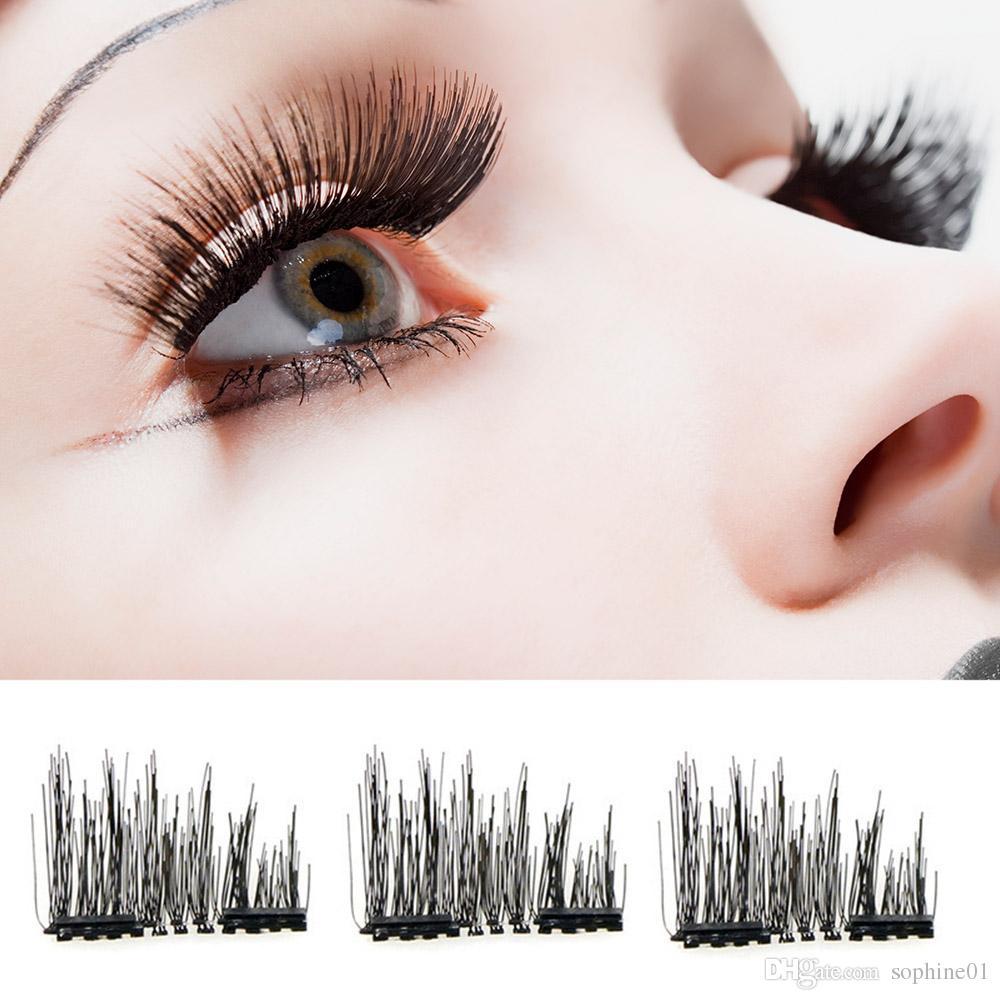 fbd319dc238 3D Magnetic Eyelashes Invisible Magnetic Lashes Mink Eyelashes With Tweezer  Magnet Mink Lashes Thick Full Strip False Eyelashes