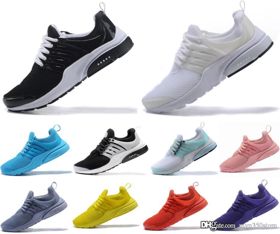 2019 PRESTO 5 BR QS Breathe Черный Белый Желтый Красный Мужские кроссовки женские Горячие Мужские Ботинки Прогулки дизайнерская повседневная обувь РАЗМЕР 36-45