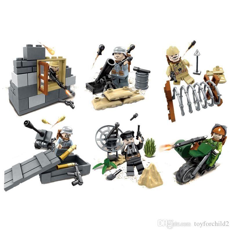 Playerunknown's Battlegrounds PUBG Desert Eagle Military Solider doll Mini Action Figure Building Blocks Brick Toy For Boy Children