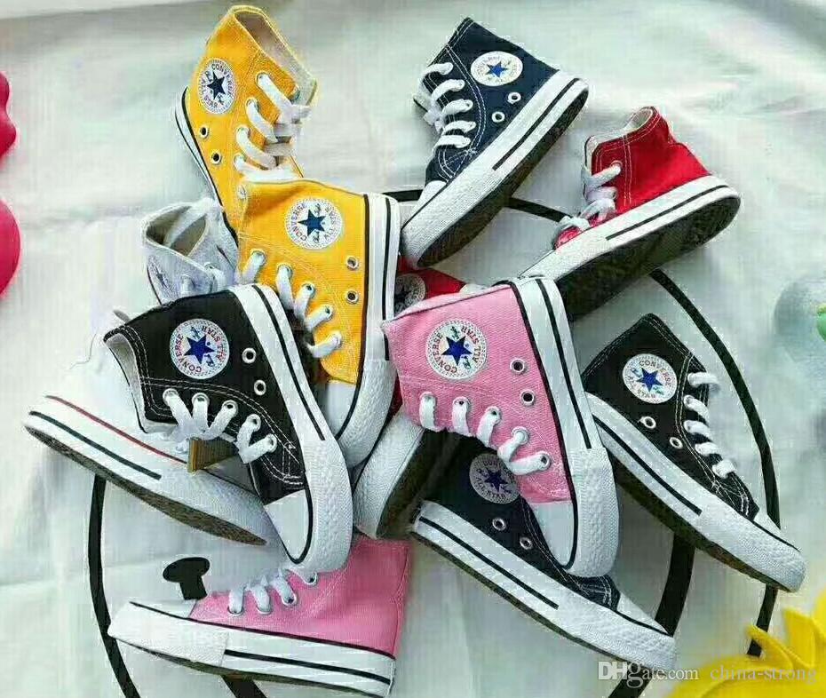 الاطفال العلامة التجارية الجديدة قماش عالية الأزياء والأحذية - أحذية منخفضة الفتيان والفتيات الرياضة قماش أحذية الأطفال، SIZE 24-34