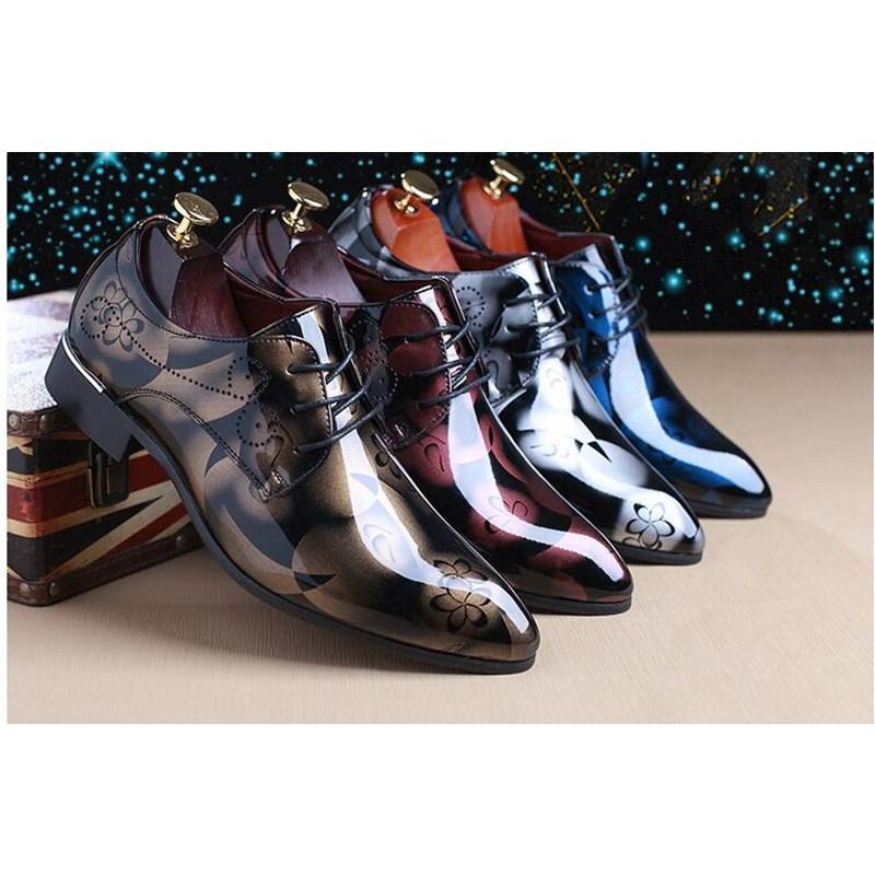 Moda İngiliz Stil Tüm deri erkek Oxford ayakkabıları İngiliz tarzı ayakkabılar resmi elbise ayakkabı Man Flats ayakkabı boyutu 37-48 boyutu