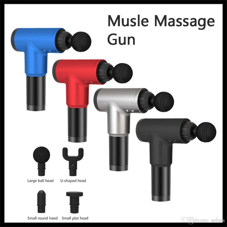 Relajación Masaje musle pistola 2000mAh descompresión masajeador para el cuello Pierna Hombro entrenamiento facial sin 4 Tipos accesorios principales