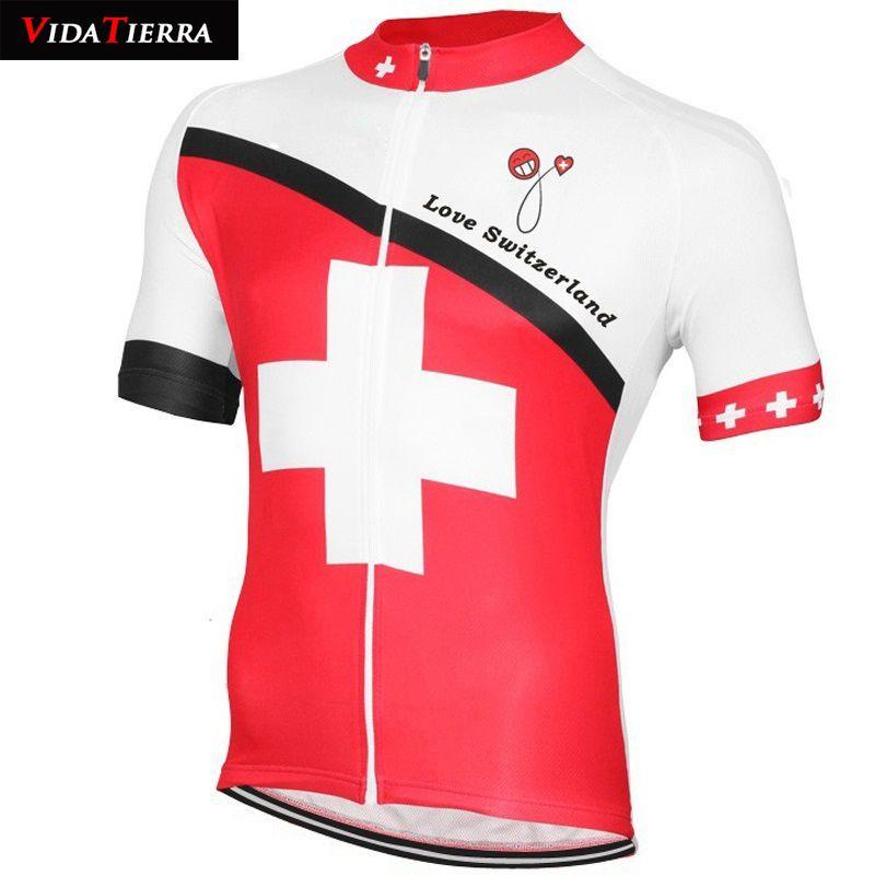 VIDATIERRA 2019 jersey de ciclismo blanco rojo desgaste de la bicicleta Equipo nacional suizo ropa de ciclismo equipo profesional clásico downhill lucky Fascinante