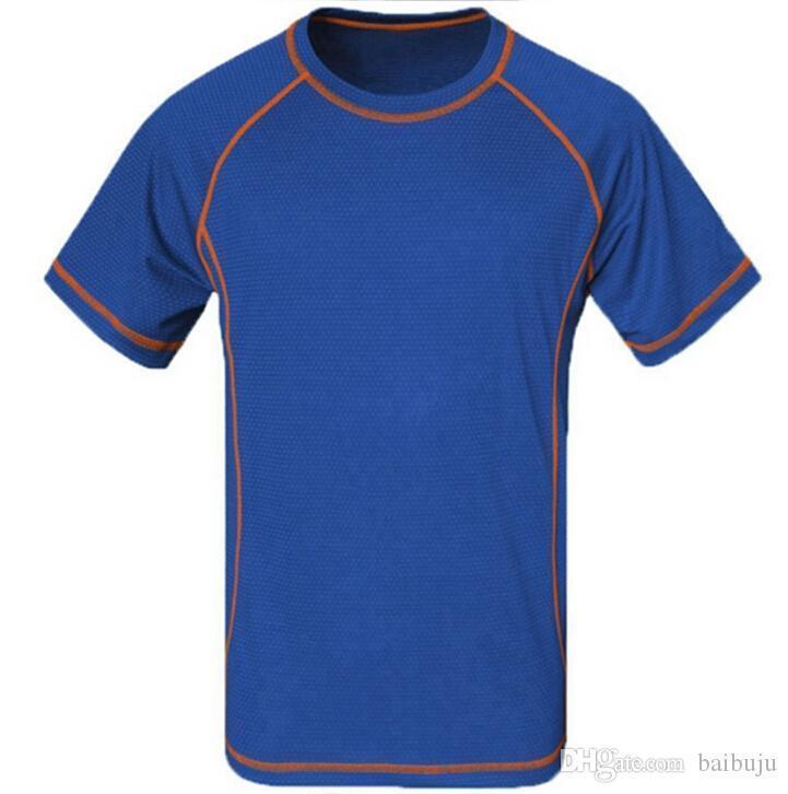 shirt do verão Caminhadas respirável t Pesca Homens Quick Dry Coolmax Homme Camping aptidão que funciona frete grátis T-shirt