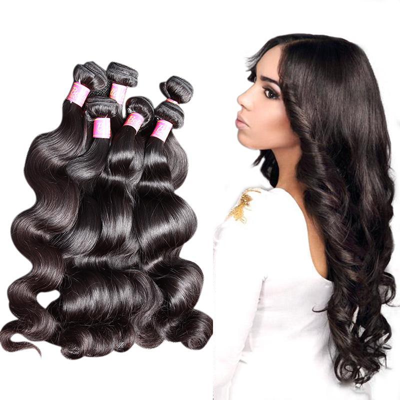 Bella Hair® 5 Bundles 브라질 버진 연장 염색 가능한 바디 웨이브 물결 모양의 인간의 머리카락 wefts 8 ~ 30inch