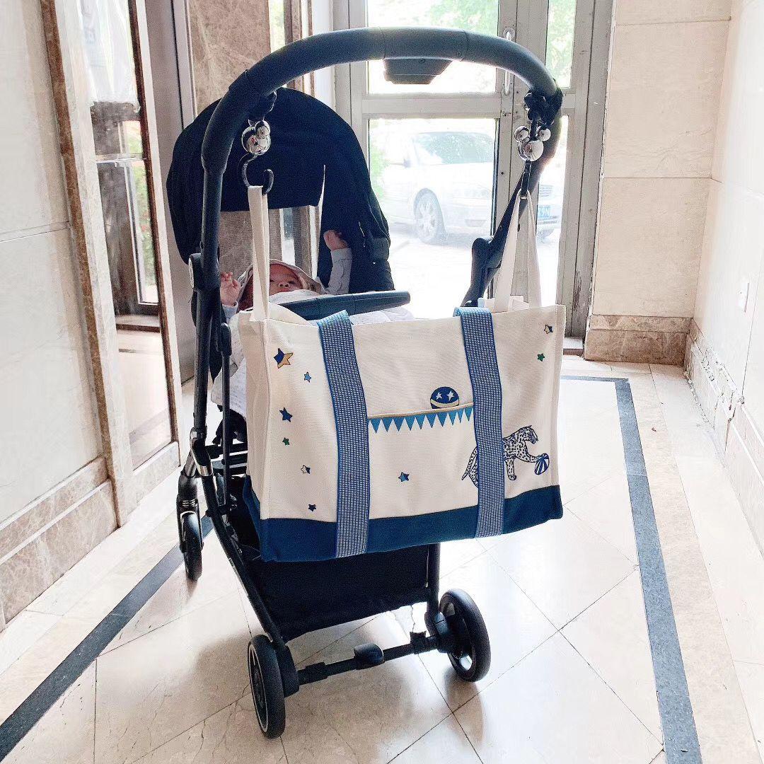 جديد لطيف الأم كيس حفاضات سعة كبيرة الأمومة أكياس الحفاض التمريض السفر حمل عربة مضادة للماء للطفل بولسا أمومة