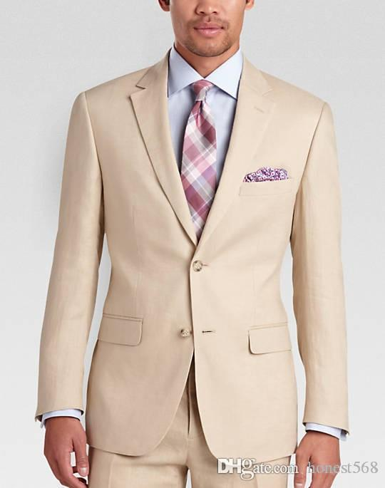 Barato y fino Dos botones de los padrinos de muesca solapa esmoquin novio hombres Trajes de boda / de Baile / Cena mejor hombre Blazer (chaqueta + pantalones + lazo) A537