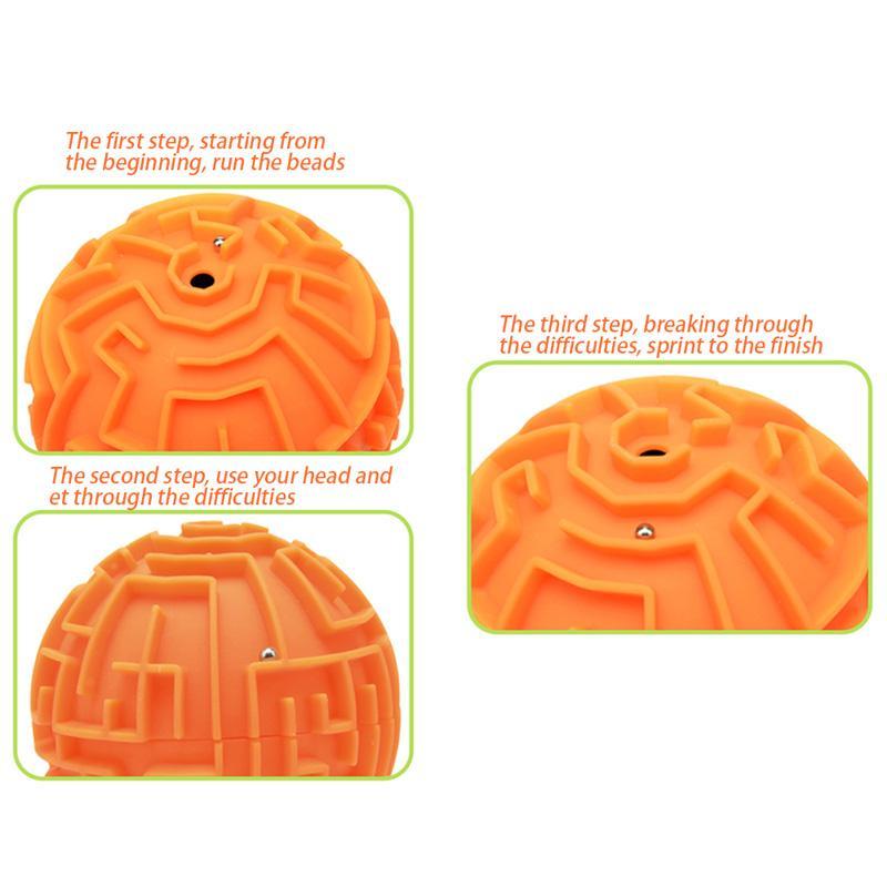 3D Maze Ball Interessantes Labyrinth Puzzle-Spiel Intelligenz Anspruchsvolle Dreidimensionales Labyrinth Ausbildung Spielzeug-Geschenk für Kinder