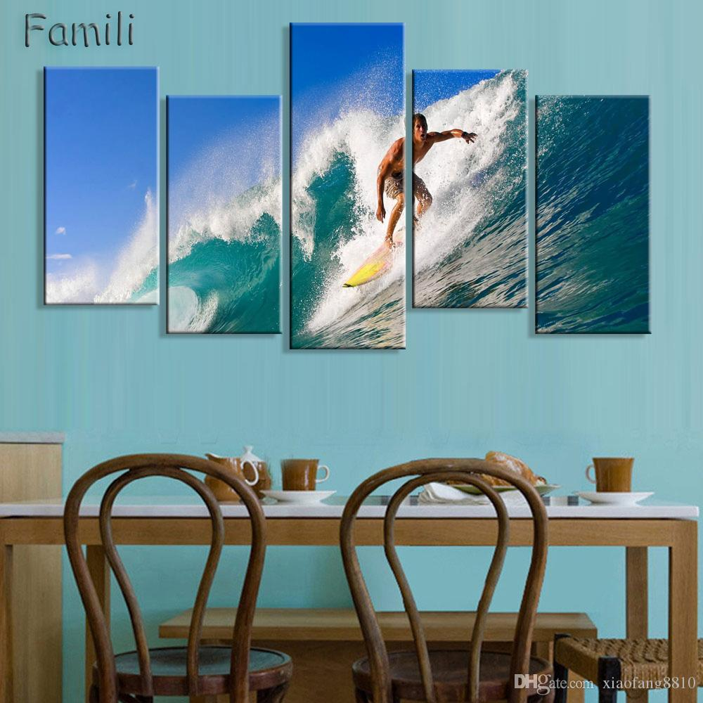 No Frame 5Panels Printed Orchid Flower Canvas Oil Painting Cuadros Decoracion Wall Picture In Living Room Modern Canvas Art-02