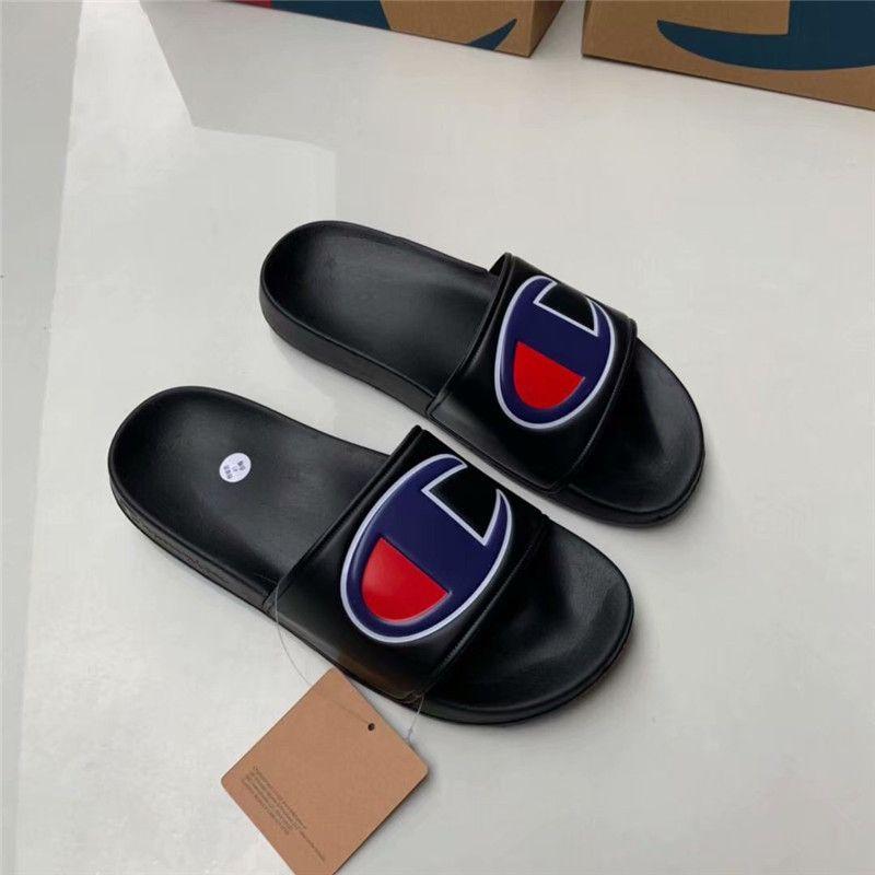 Unisex Champions Letter Sandals Men