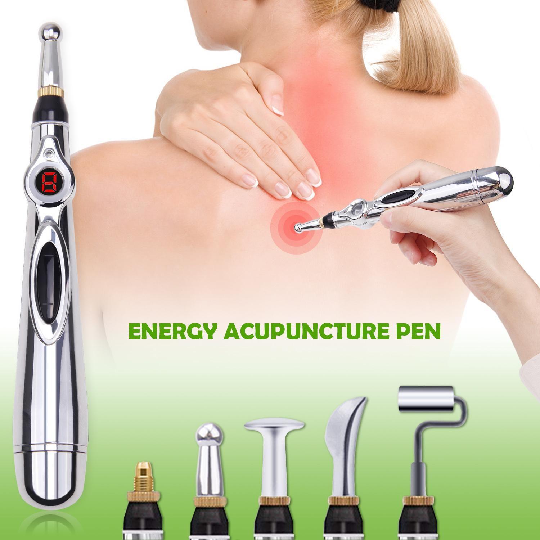 A acupuntura caneta eletrônica Meridianos elétrica Terapia Laser curar Ferramentas Pen Energia Massagem Pen Meridian alívio da dor ferramenta de massagem