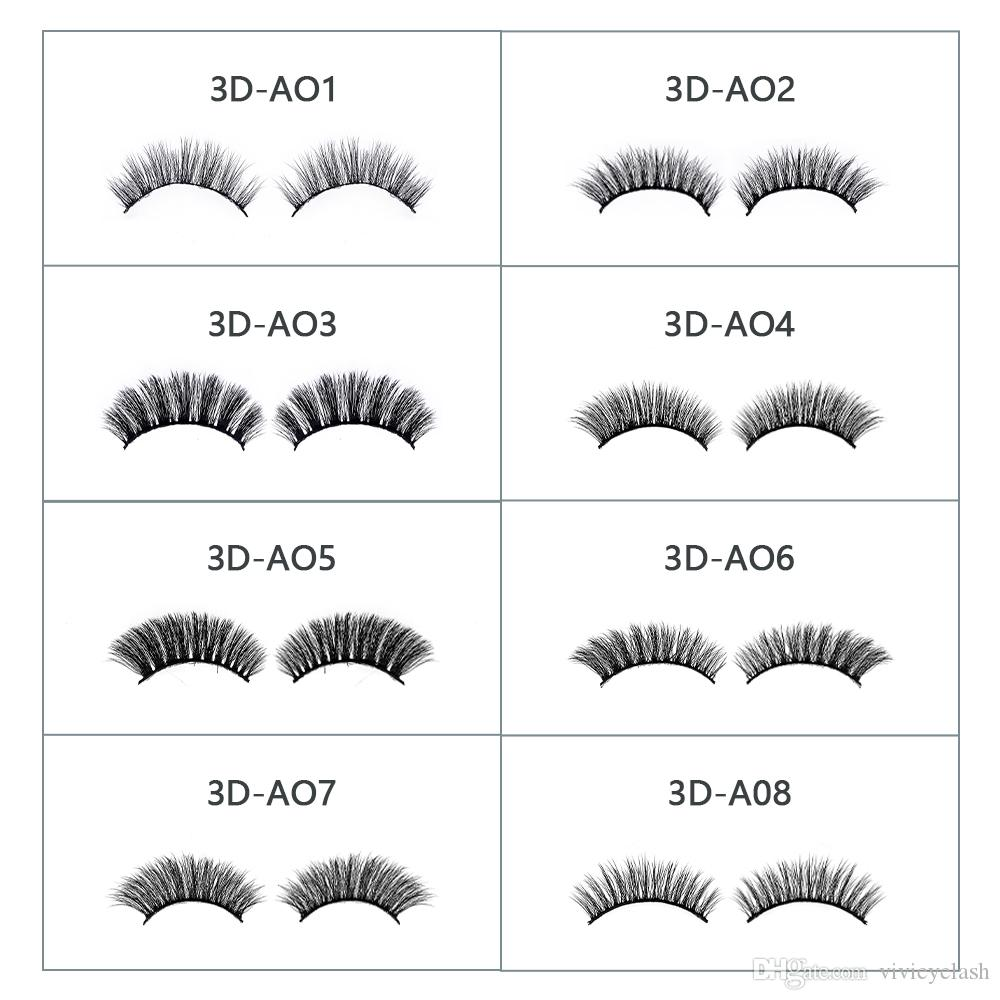 Eyelashes Factory 3D mink eyelashes with Various Styles Korean PBT Fiber 3D Synthetic Lashes Custom 3D False Eyelashes and Box
