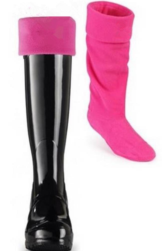 2020 nouveaux hommes de style de haute qualité et bottes de pluie femmes bas de laine polaire chaussettes bottes unisexe pluie Les jambières de botte de pluie
