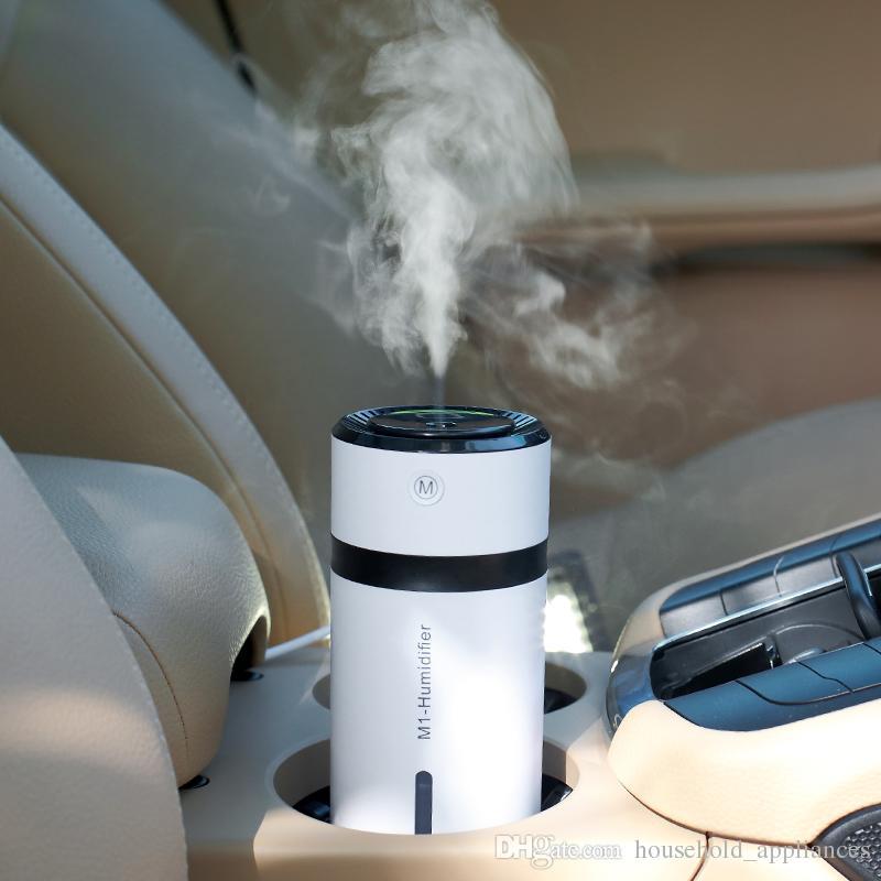 M1 mini usb umidificador carro umidificador 300 ml difusor desktop difusor de luz do escritório em casa colorido névoa fabricante