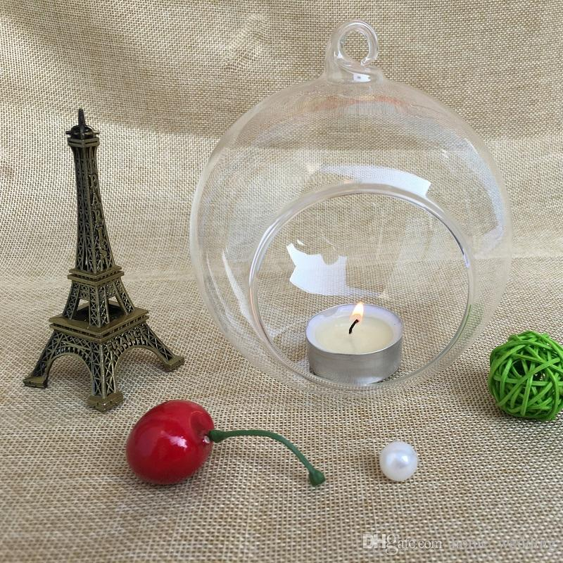 Hanging Glass Tea Light Candle Holders Glass Globe Candle Holder For Wedding Party Home Xmas Decor free shipping