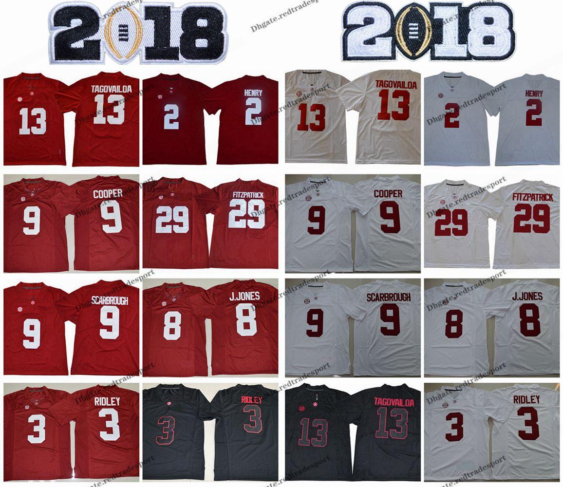 2018 ألاباما قرمزي تايد 13 توا تاغوفيلوا 2 هنري 29 مينكا فيتزباتريك 9 بو سكاربرو كوبر 3 ريدلي 8 جونز كلية جيرسي لكرة القدم