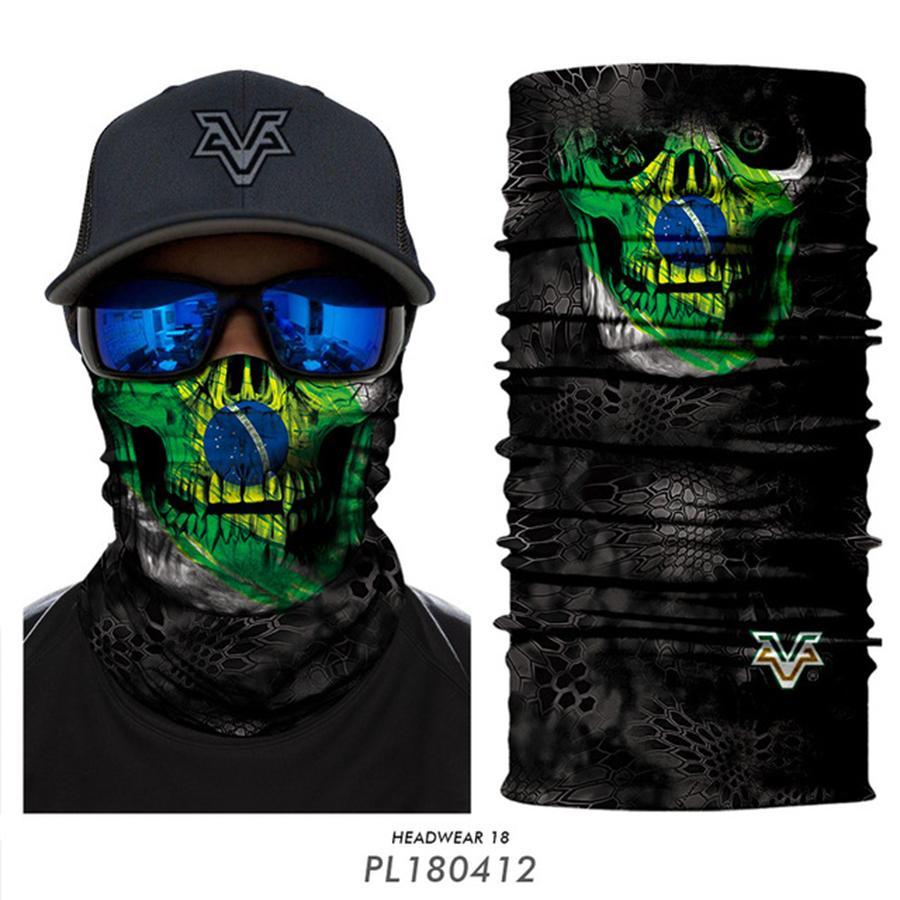 الوشاح السحري لركوب قناع نصف الوجه 10 أنماط ثلاثية الأبعاد رياضة ركوب الدراجات لصيد الأسماك Bandana Head Bandband Men Convices OOA7822