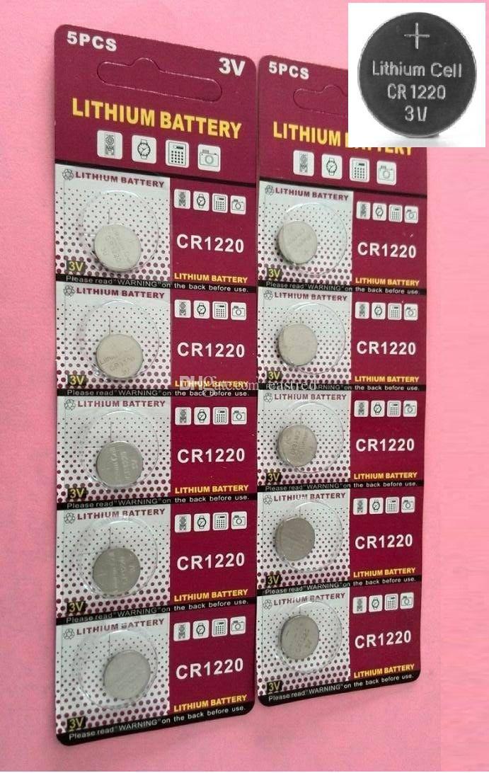 2000pcs CR1220 LM1220 3V lítio botão célula bateria BR1220 DL1220 ECR1220 LM1220 5pcs por cartão