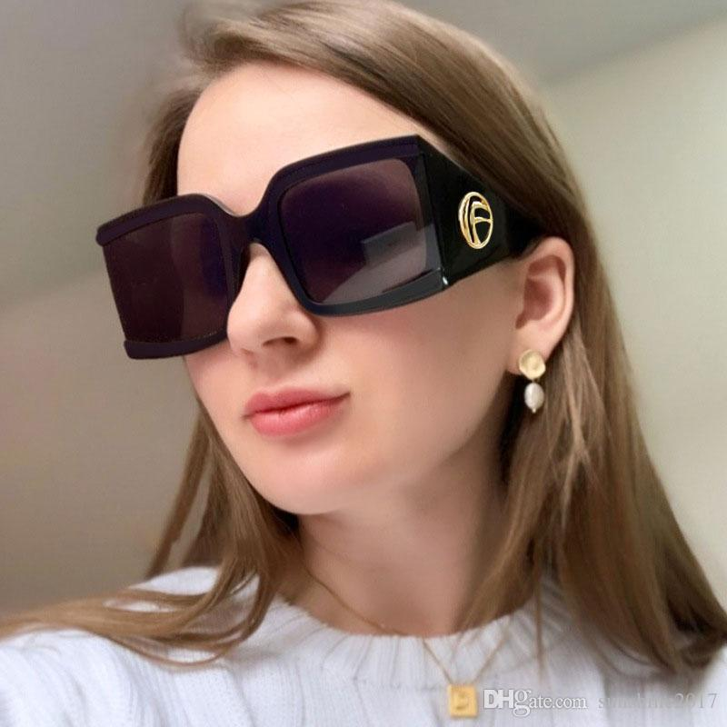 NEW Oversized Square Frame Designer Sunglasses Women Luxury Fashion Shades 2019