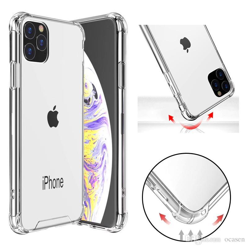 Transparente à prova de choque Acrílico híbrido Armadura Hard Case Voltar para o iPhone XS 11 Pro Max XR 8 7 Plus Samsung S10 20 Nota 10